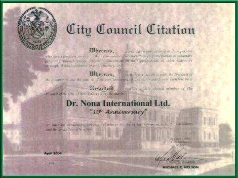 Dr. Nona certyfikaty